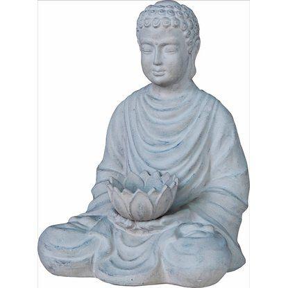 Deko Buddha Terrakotta 42 cm hoch