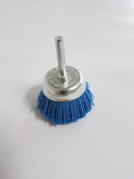 Scheibenbürste Nylon 50 mm blau