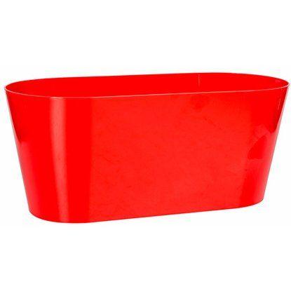 Pflanzkasten 3 L 5er Set oval. rot, Kunststoff