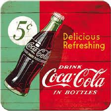 Coca-Cola Vintage Blechunterstezer 9x9cm