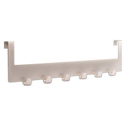 Türgarderobe Metall vernickelt matt 10cmx37,5cmx1,6cm