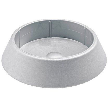 Hettich Tischbein Fußkappe silber 60mm Durchmesser
