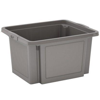 H-Stapelbox 23 l grau 3-Set