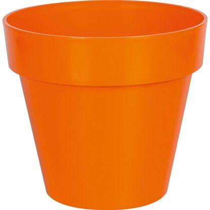 Übertopf 1,1 L 5er Set orange, rund, Kunststoff