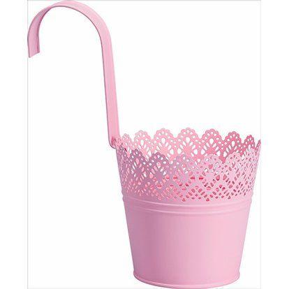 Hängetopf 4er Set, rosa hellgrün,flieder,hellgelb