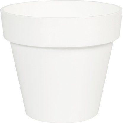 Übertopf 0,7L 5er Set weiß, rund, Kunststoff