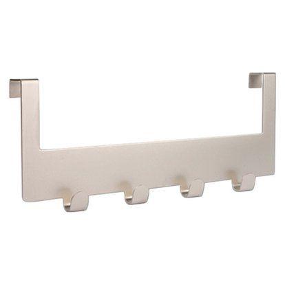Türgarderobe Metall vernickelt-matt 10cmx25,5cmx1,6cm