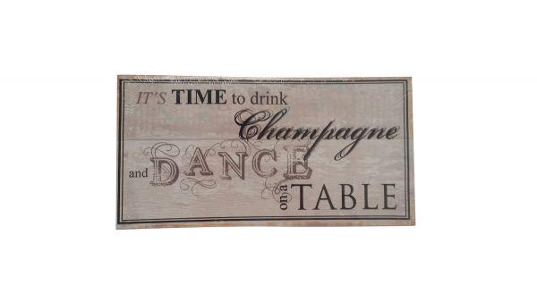 DEKO Schild MDF `It´s time to drink.. `