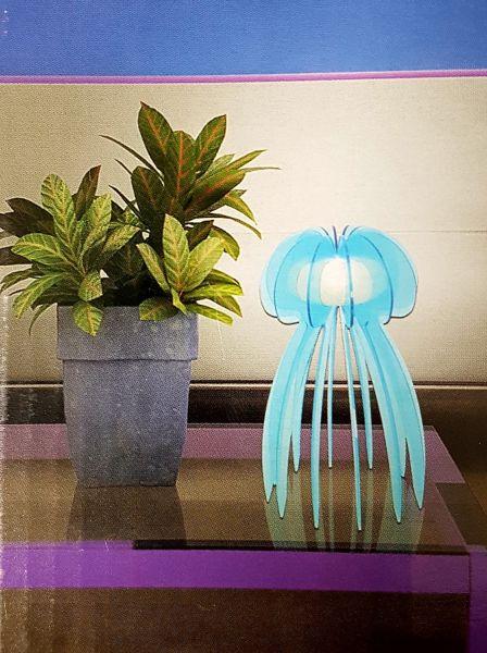 Tischleuchte Jellyfish Blau 30 cm