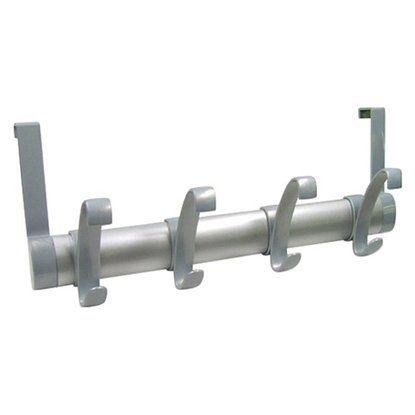 Türgarderobe Kunststoff silber matt 16cm x 39,6 cm x 9,8 cm