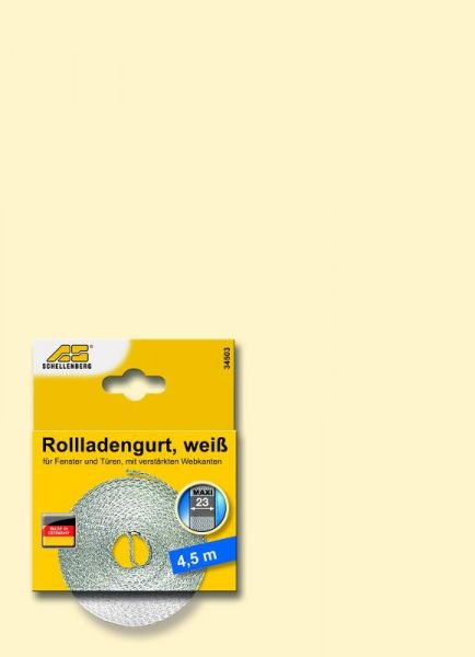 Schellenberg Rolladengurt Maxi weiss 23 mm x 4,5 m