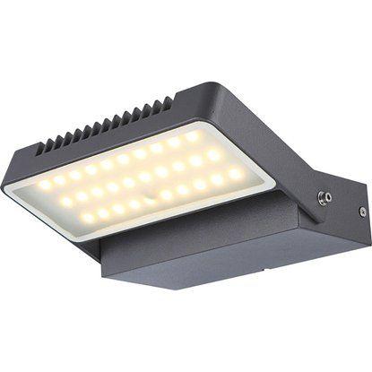 Globo LED Wandaußenleuchte Aluminium dunkel grau 214mmx140mm