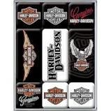 Nostalgic Art Vintage Magnet Set. Harley Davidson mit 9 Magneten