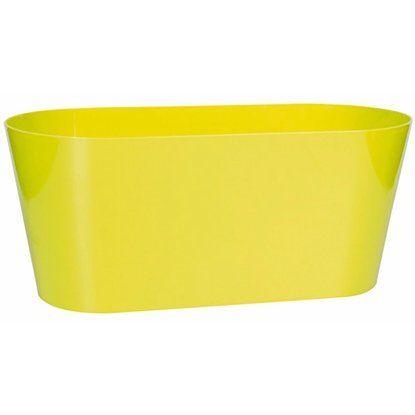 Pflanzkasten 3 L 5er Set oval, apfelgrün, Kunststoff