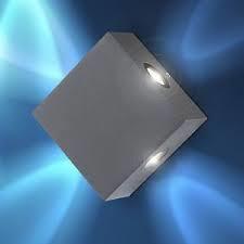 Globo LED Wandaußenleuchte Aluminium dunkel grau 100x100x53mm