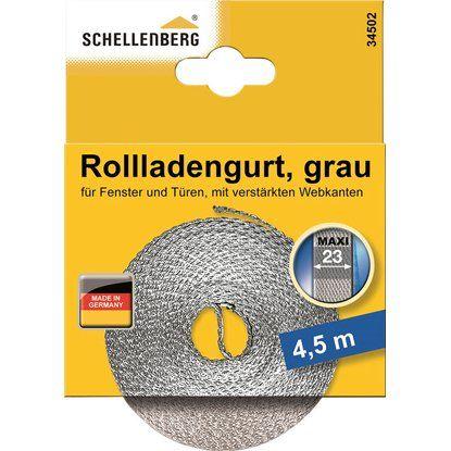 Schellenberg Rolladengurt grau 23 mm x 4,5 m