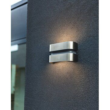 Lutec LED-Außenwandleuchte Maya Edelstahloptik