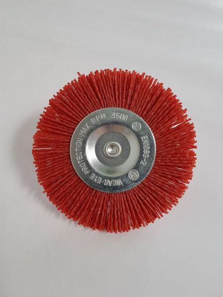 Scheibenbürste Nylon 100 mm rot