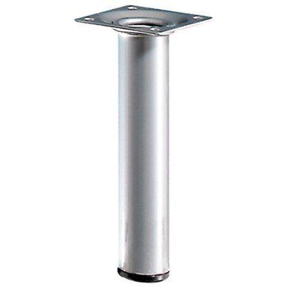 Hettich Tischbein rund Alu-Optik Durchm. 30 Höhe 150mm