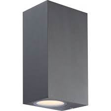 Globo LED Wandaußenleuchte Aluminium dunkel grau