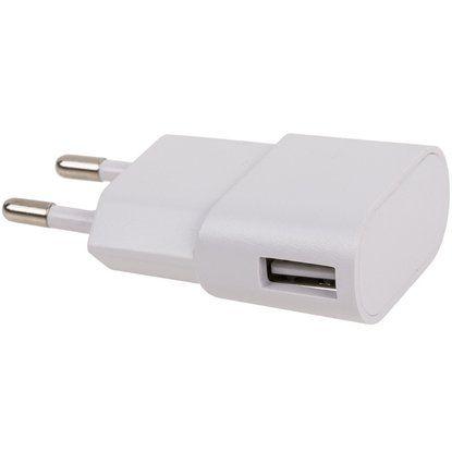 USB-Ladeadapter für 230 V Steckdose Weiß
