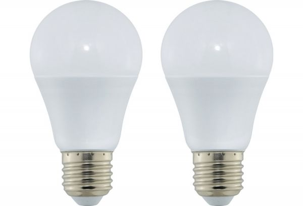 LED 2erSet Normallampe 60W-Ersatz warmw.