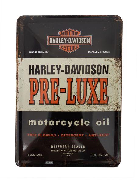Blechpostkarte `Harley`