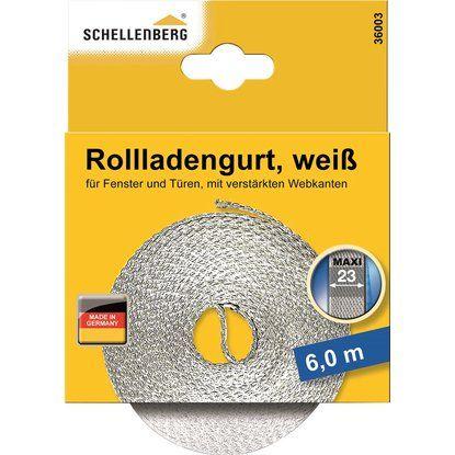 Schellenberg Rolladengurt weiss 23 mm x 6 m