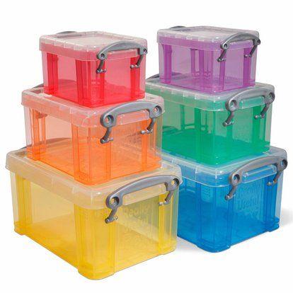 Kunststoffbox rot 0,7 l 3er-Set