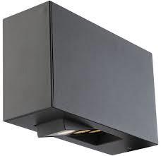 Globo LED Außenleuchte Aluminium dunkel grau 70x120x201mm
